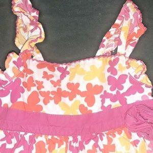 Little Me Butterfly Dress Sundress 24 Months